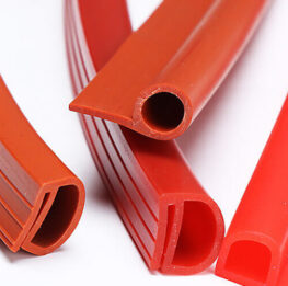 Silicone rubber extrusions solid profile