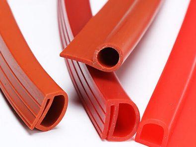 Silicone rubber extrusions solid profile